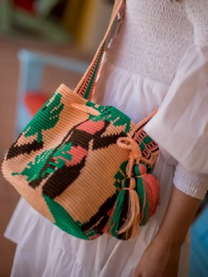 Arte y Tejido, Chorrera, Mochila, Tejida, Knitted, Crochet, Natural Fibers, Algodón, Cotton, Fibras Naturales, Bag, Hawaii, Mochila Hawaii
