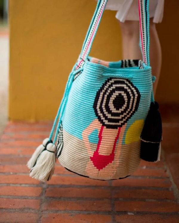 Arte y Tejido, Chorrera, Mochila, Tejida, Knitted, Crochet, Natural Fibers, Algodón, Cotton, Fibras Naturales, Bag, Hyams, Mochila Hyams