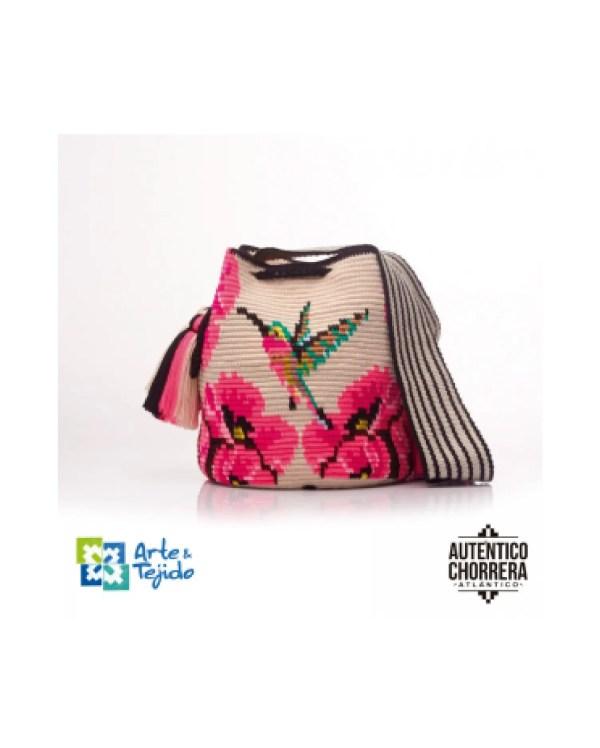 Arte y Tejido, Mochila Jilguero, Chorrera, Mochila, Tejida, Knitted, Crochet, Natural Fibers, Algodón, Cotton, Fibras Naturales, Bag, Jilguero
