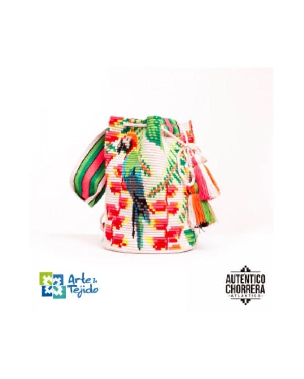 Arte y Tejido, Mochila Kakariki, Chorrera, Mochila, Tejida, Knitted, Crochet, Natural Fibers, Algodón, Cotton, Fibras Naturales, Bag, Kakariki