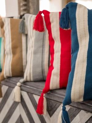 Arte y Tejido, Cojín Kanpur, Kanpur Cushion, Chorrera, Cojín, Cushion, Tejido, Knitted, Crochet, Natural Fibers, Algodón, Cotton, Fibras Naturales, Kanpur