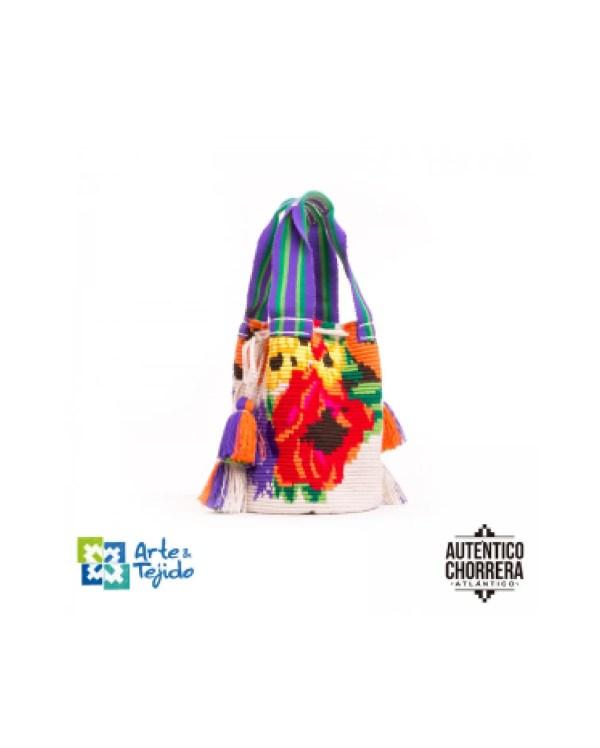 Arte y Tejido, Mochila Kayena, Chorrera, Mochila, Tejida, Knitted, Crochet, Natural Fibers, Algodón, Cotton, Fibras Naturales, Bag, Kayena
