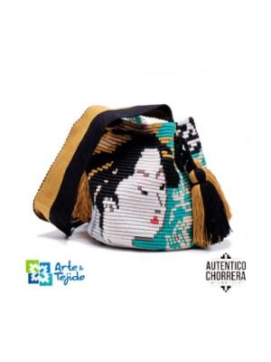 Arte y Tejido, Mochila Kiku, Chorrera, Mochila, Tejida, Knitted, Crochet, Natural Fibers, Algodón, Cotton, Fibras Naturales, Bag, Kiku