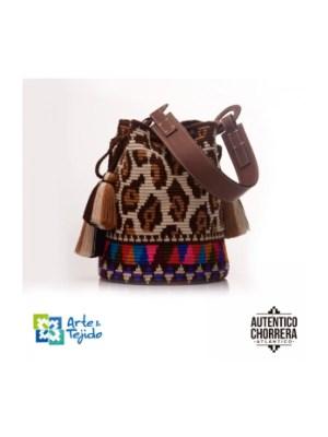 Arte y Tejido, Mochila Leopard, Chorrera, Mochila, Tejida, Knitted, Crochet, Natural Fibers, Algodón, Cotton, Fibras Naturales, Bag, Leopard