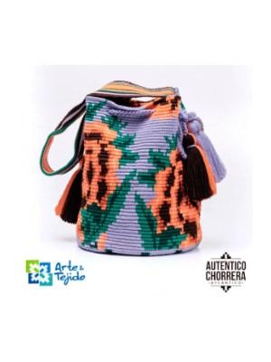 Arte y Tejido, Mochila Lilias, Chorrera, Mochila, Tejida, Knitted, Crochet, Natural Fibers, Algodón, Cotton, Fibras Naturales, Bag, Lilias