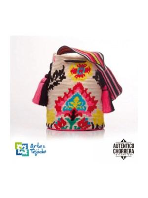 Arte y Tejido, Mochila Love, Chorrera, Mochila, Tejida, Knitted, Crochet, Natural Fibers, Algodón, Cotton, Fibras Naturales, Bag, Love