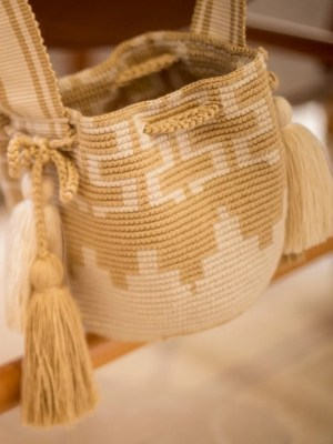 Arte y Tejido, Chorrera, Mochila, Tejida, Knitted, Crochet, Natural Fibers, Algodón, Cotton, Fibras Naturales, Bag, Maig