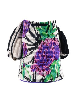Arte y Tejido, Mochila Orty, Chorrera, Mochila, Tejida, Knitted, Crochet, Natural Fibers, Algodón, Cotton, Fibras Naturales, Bag, Orty
