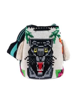 Arte y Tejido, Mochila Panter, Chorrera, Mochila, Tejida, Knitted, Crochet, Natural Fibers, Algodón, Cotton, Fibras Naturales, Bag, Panter
