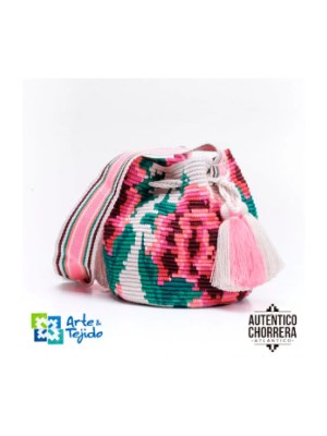 Arte y Tejido, Mochila Petal, Chorrera, Mochila, Tejida, Knitted, Crochet, Natural Fibers, Algodón, Cotton, Fibras Naturales, Bag, Petal
