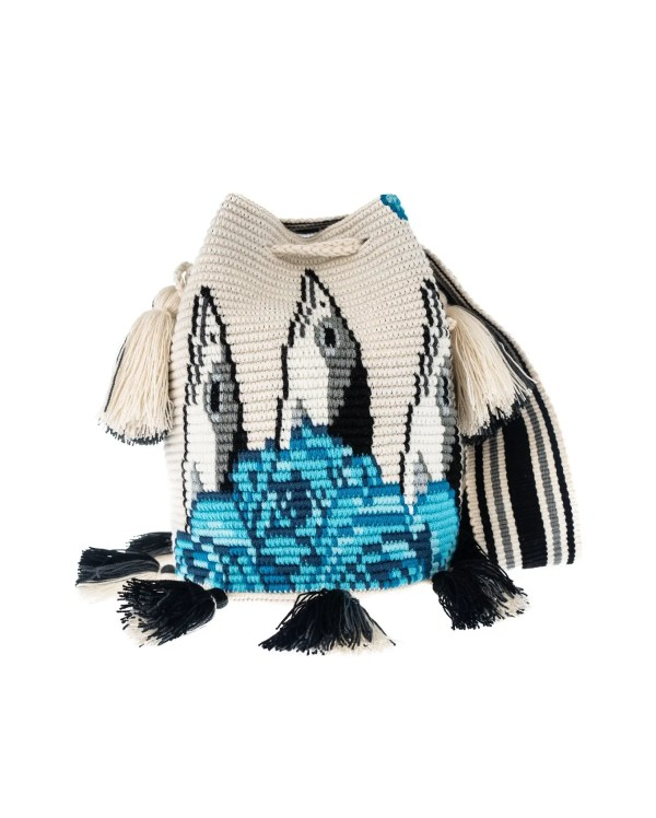 Arte y Tejido, Mochila Pixel, Chorrera, Mochila, Tejida, Knitted, Crochet, Natural Fibers, Algodón, Cotton, Fibras Naturales, Bag, Pixel