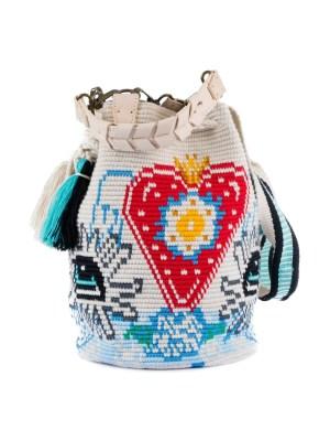 Arte y Tejido, Chorrera, Mochila, Tejida, Knitted, Crochet, Natural Fibers, Algodón, Cotton, Fibras Naturales, Bag, Pop, Frenesí, Mochila Pop