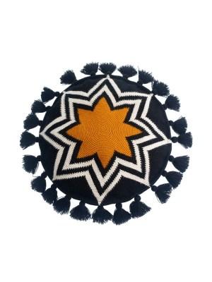 Arte y Tejido, Cojón Pune, Pune Cushion, Chorrera, Cojín, Cushion, Tejido, Knitted, Crochet, Natural Fibers, Algodón, Cotton, Fibras Naturales, Pune