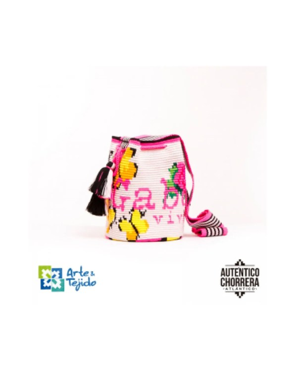 Arte y Tejido, Mochila Renata Remedio, Chorrera, Mochila, Tejida, Knitted, Crochet, Natural Fibers, Algodón, Cotton, Fibras Naturales, Bag, Renata Remedio
