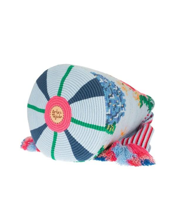 Arte y Tejido, Mochila Robly, Chorrera, Mochila, Tejida, Knitted, Crochet, Natural Fibers, Algodón, Cotton, Fibras Naturales, Bag, Robly
