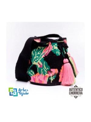 Arte y Tejido, Mochila Rose, Chorrera, Mochila, Tejida, Knitted, Crochet, Natural Fibers, Algodón, Cotton, Fibras Naturales, Bag, Rose