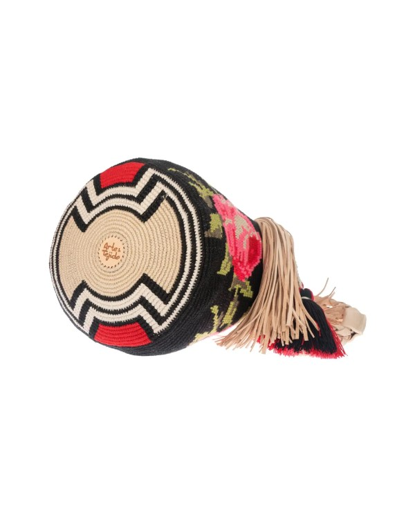 Arte y Tejido, Chorrera, Mochila, Tejida, Knitted, Crochet, Natural Fibers, Algodón, Cotton, Fibras Naturales, Bag, Roselina, Mochila Roselina