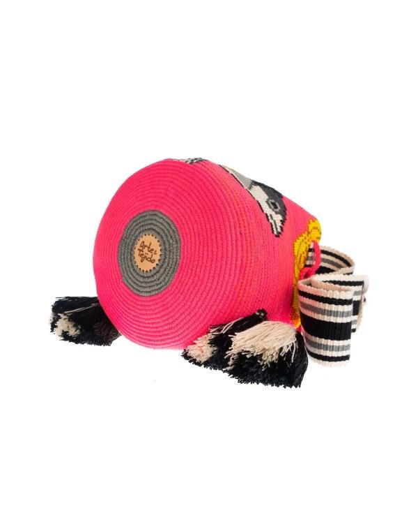 Arte y Tejido, Mochila Scharf, Chorrera, Mochila, Tejida, Knitted, Crochet, Natural Fibers, Algodón, Cotton, Fibras Naturales, Bag, Scharf