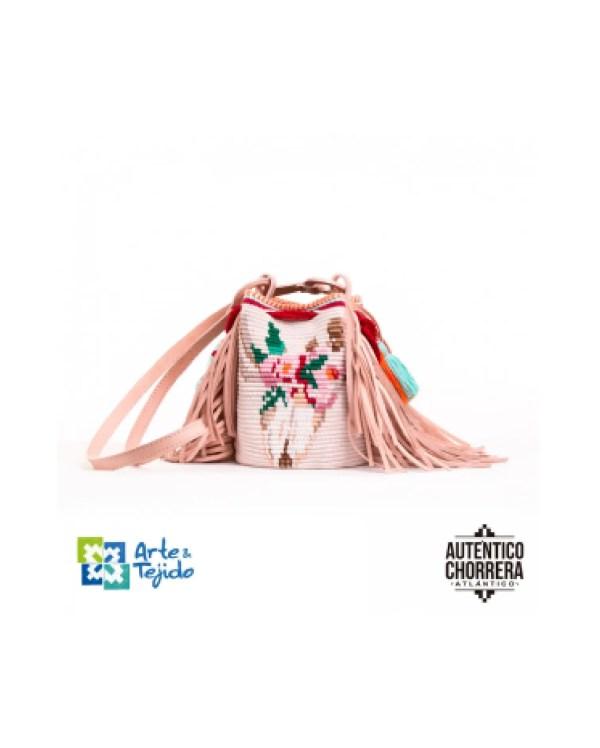 Arte y Tejido, Mochila Seris, Chorrera, Mochila, Tejida, Knitted, Crochet, Natural Fibers, Algodón, Cotton, Fibras Naturales, Bag, Seris