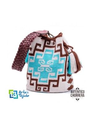 Arte y Tejido, Mochila Tetuan, Chorrera, Mochila, Tejida, Knitted, Crochet, Natural Fibers, Algodón, Cotton, Fibras Naturales, Bag, Tetuan