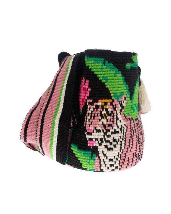 Arte y Tejido, Chorrera, Mochila, Tejida, Knitted, Crochet, Natural Fibers, Algodón, Cotton, Fibras Naturales, Bag, Tigris, Mochila Tigris