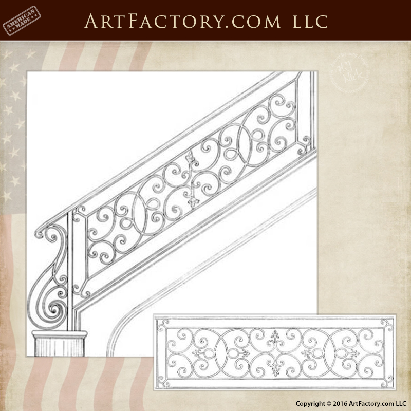 Custom Iron Stair Railing Custom Iron Stair Railing