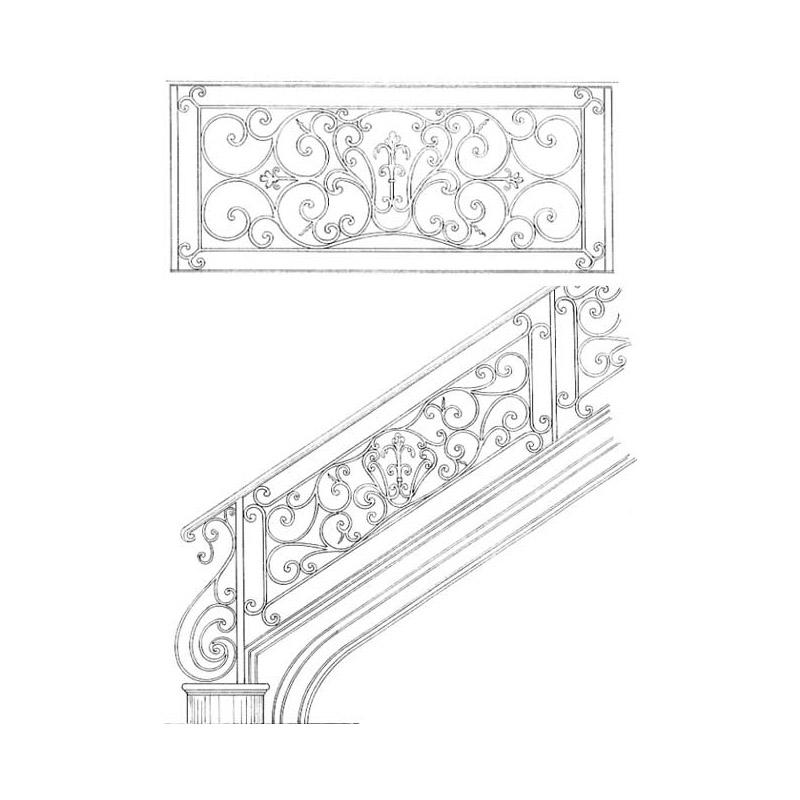 fleur de lis stair railing design