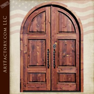 custom wood doors six panel double doors