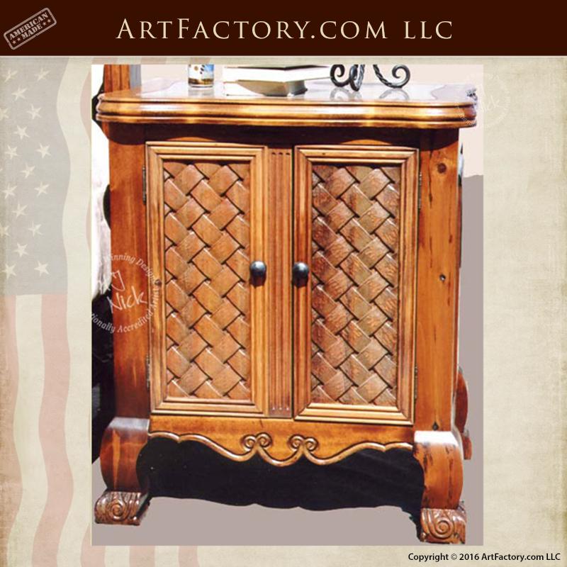 Exotic Cedar Wrought Iron Bed: Unique Custom Bedroom Furniture