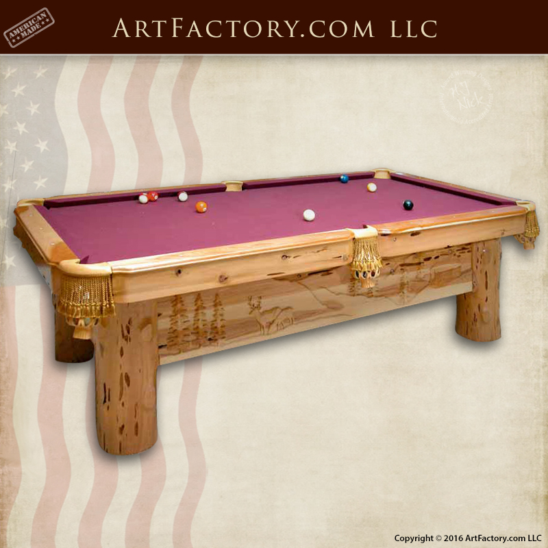 Hand Carved Pool Table