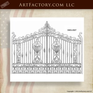 Iron Scroll Panel Gates
