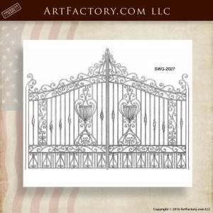 Iron Scroll Panel Gates