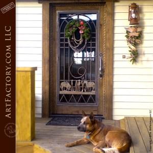 Old Western Style Iron Door