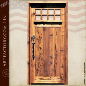 colonial inspired wooden door
