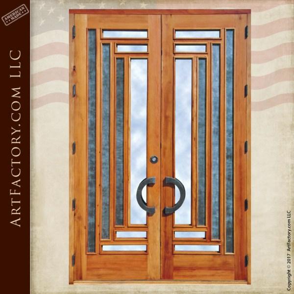 custom craftsman double doors
