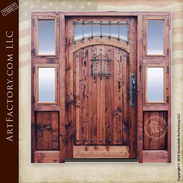 custom fortress style door