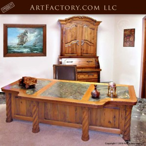 custom hand carved executive desk