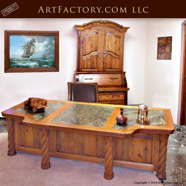 custom hand carved executive desk