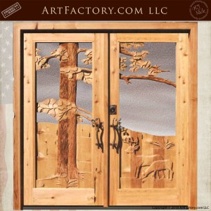 White Deer Double Doors