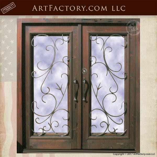 glass panel double doors