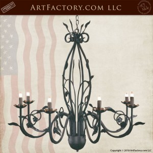 custom floral iron chandelier