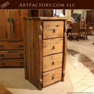 rustic executive file cabinet