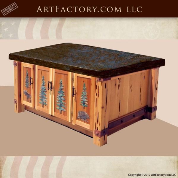 rustic handmade cabinets