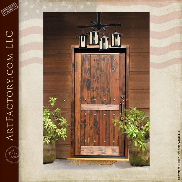 rustic wood plank door