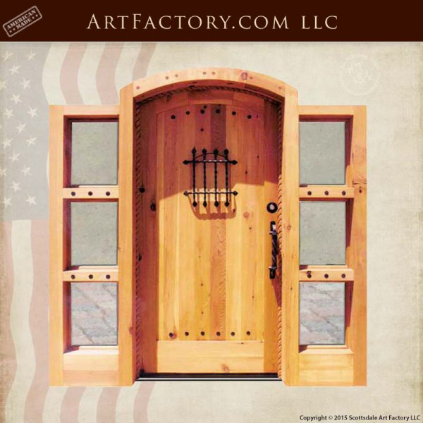 semi arched plank door