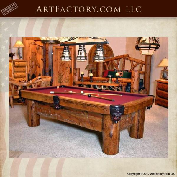 Silverton Train Hand Carved Pool Table Custom Fine Art
