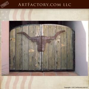 western longhorn ranch gate