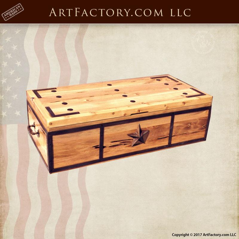 western wooden storage box