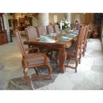 French Dining Table Handmade Solid Wood
