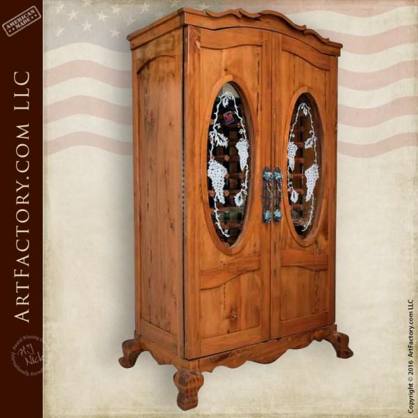 Temp Controlled Custom Wine Cabinet